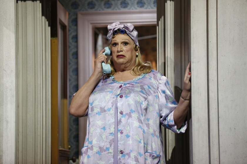 "Harvey Fierstein as Edna Turnblad in NBC's ""Hairspray Live!"""