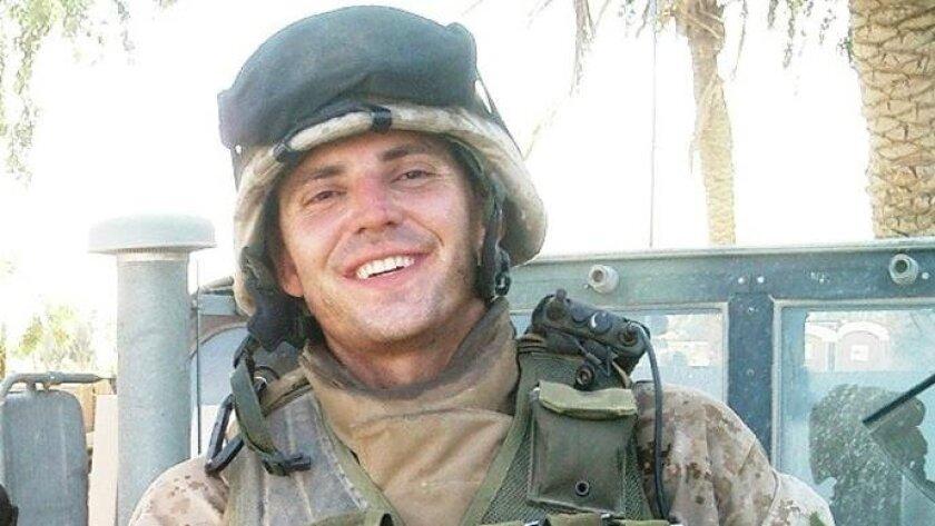 Nathan Fletcher as a Marine