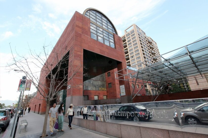 A street-level view of the Museum of Contemporary Art.