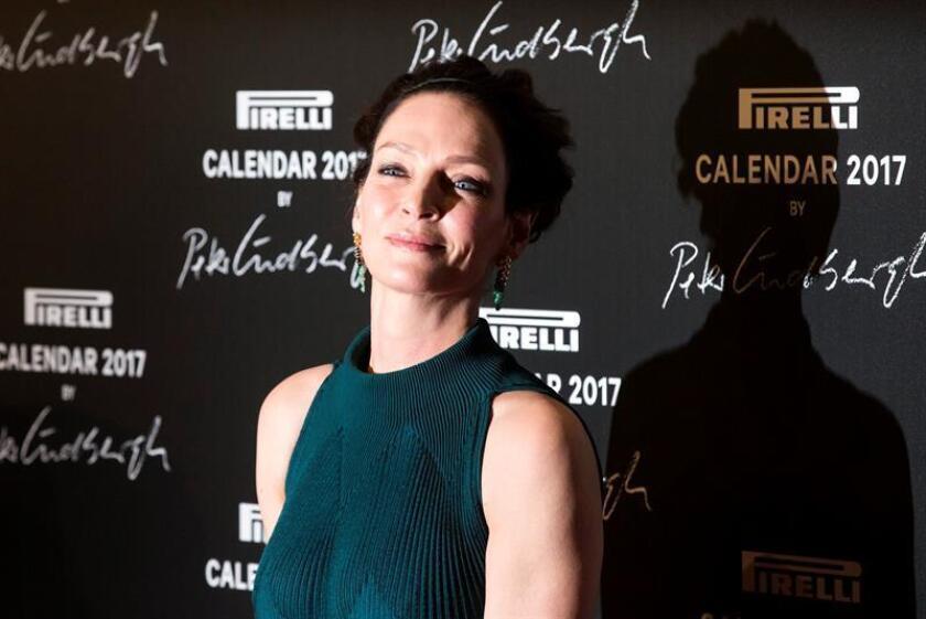 Un juez de Nueva York otorgó hoy a la actriz Uma Thurman la custodia de su hija de cuatro años, después de una larga disputa en los tribunales con su expareja Arpad Busson, según medios locales. EFE/ARCHIVO
