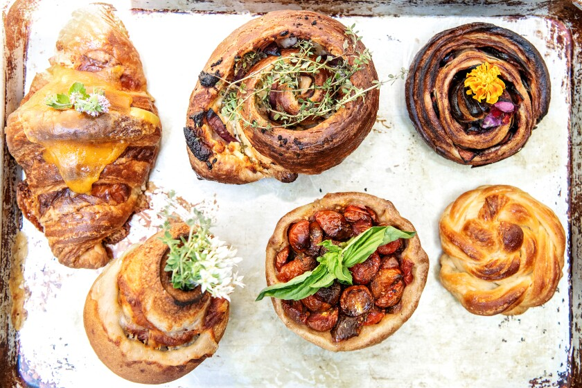 Freshly baked pastries and croissants at Canyon Bakery.
