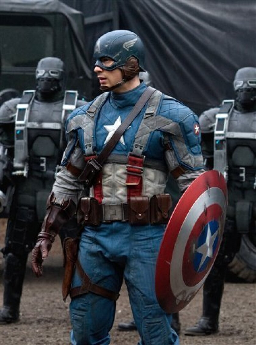 "In this film publicity image released by Paramount Pictures, Chris Evans is shown in a scene from the film ""Captain America: The First Avenger."" Paramount Pictures and Marvel Studios gave distributors around the world the option of shortening the title to""The First Avenger."" The only countries that took them up on it were Russia, Ukraine and South Korea. In other territories, the movie will go out with the full title, a sign that the brand value of the Marvel Comics hero trumps any potential anti-American sentiment in some parts of the world. (AP Photo/Paramount Pictures, Jay Maidment)"