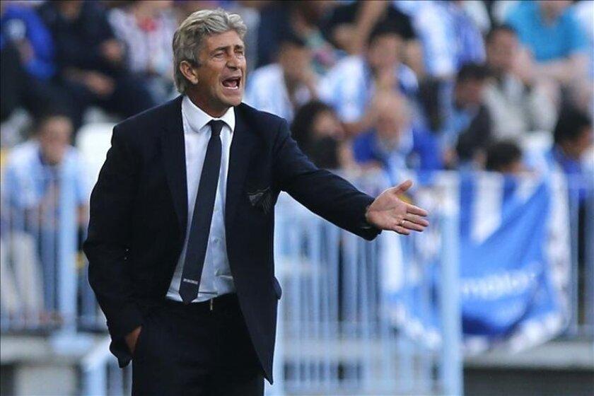 El técnico chileno del Málaga Manuel Pellegrini. EFE