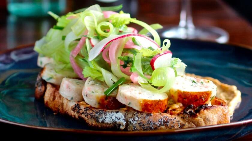 Crab & shrimp sausage toast