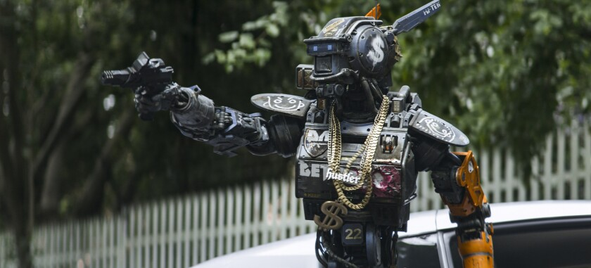 """A scene from """"Chappie."""""""