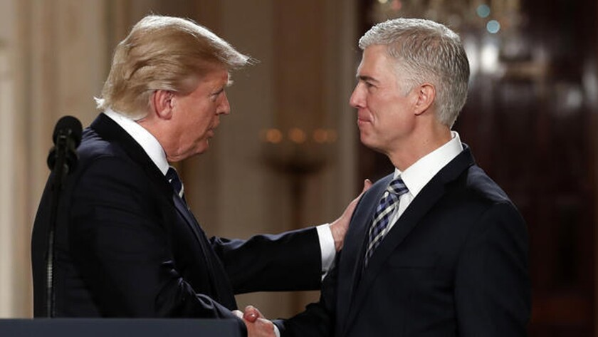 Donald Trump and Neil Gorsuch