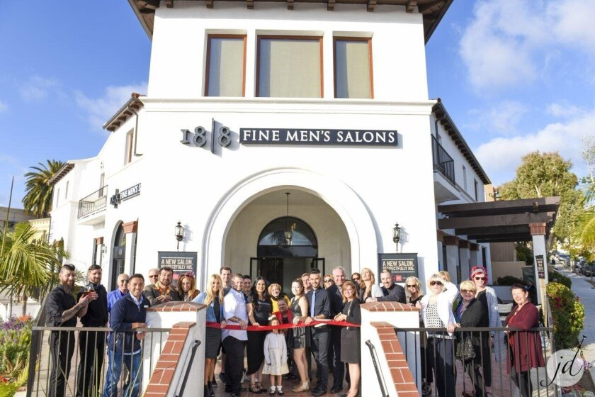 18/8 Fine Men's Salon on La Jolla Boulevard holds a grand opening April 28 with many community members on hand.