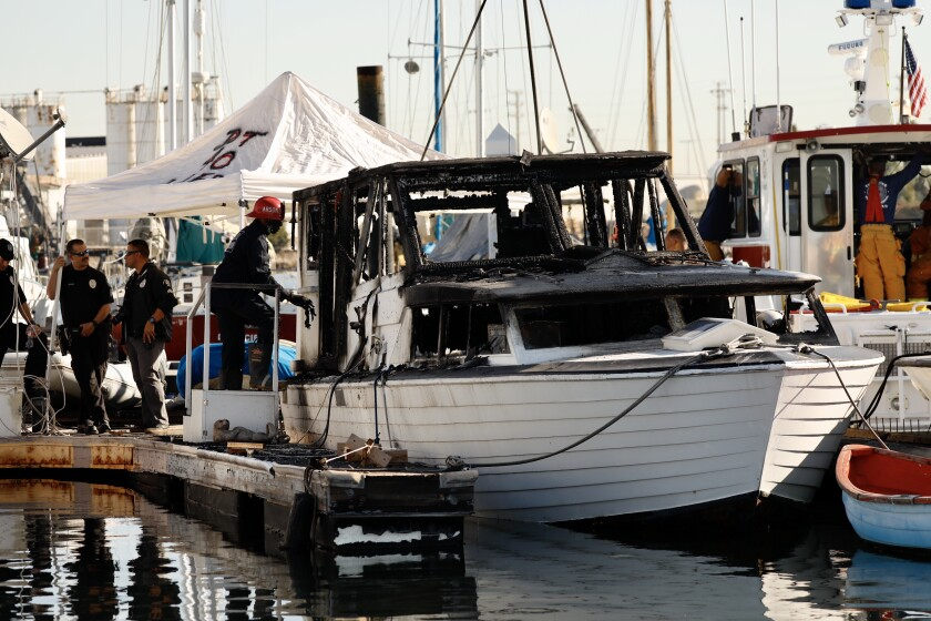 Woman, 69, found dead after vessel burns in Port of Los Angeles