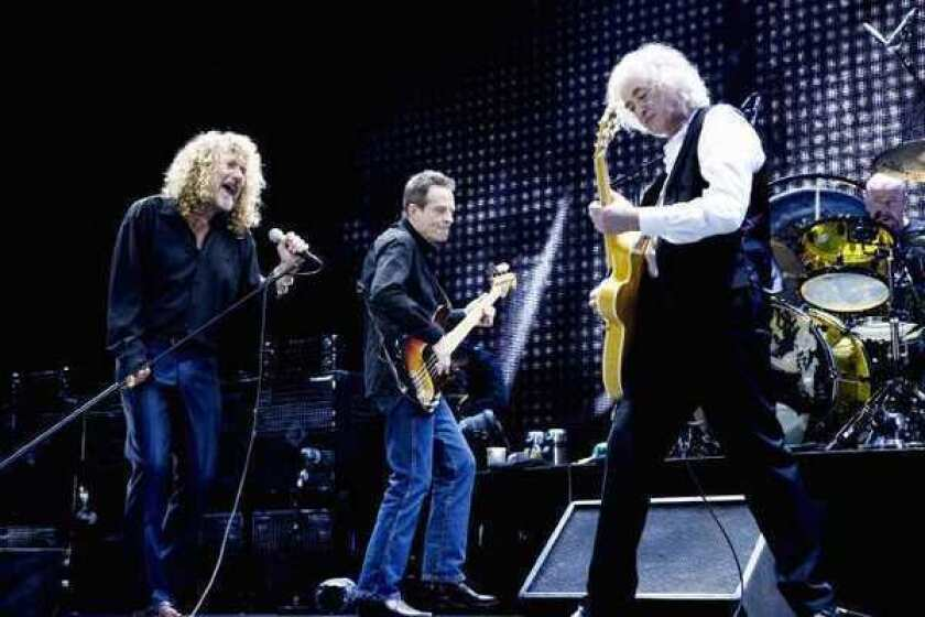 Led Zeppelin founding members, from left, Robert Plant, John Paul Jones and Jimmy Page reunited in 2007 in London.