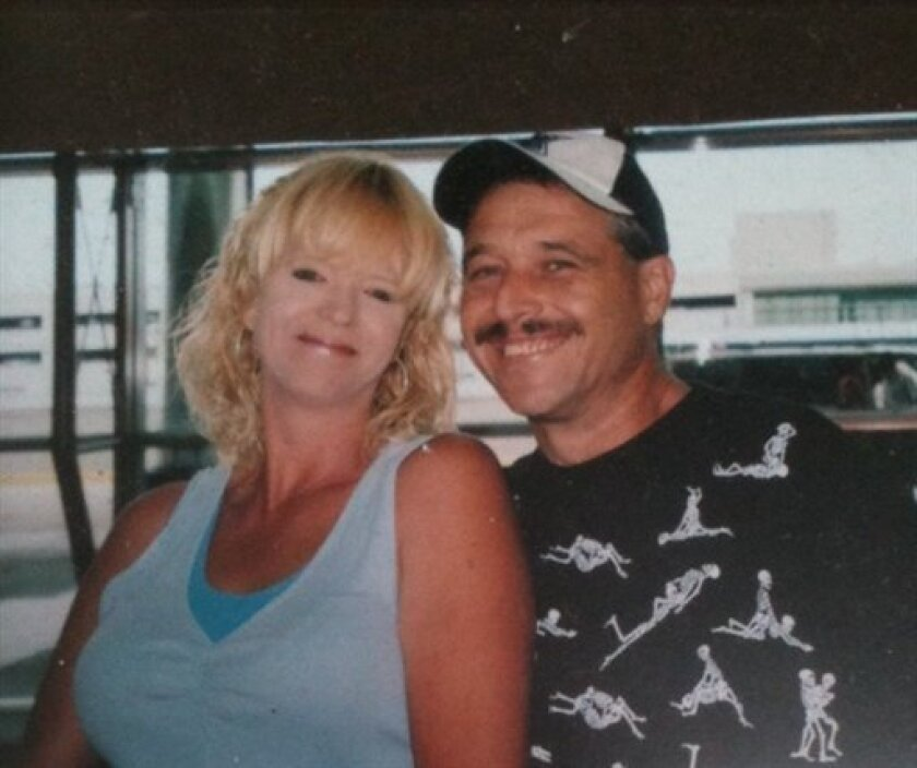 This undated photo provided by the Curry County Sheriff's Office shows missing mushroom pickers Daniel and Belinda Conne. Belinda and Daniel Conne, both 47, and their 25-year-old son, Michael, were last seen Sunday at the Huntley Park campground on the Rogue River about eight miles northeast of Gold Beach, Ore., where they had been living the past eight months since moving from Oklahama, Bishop said. They supported themselves with working odd jobs, glass blowing and picking mushrooms. Searchers were mystified that four days of searching has failed to turn up the three family members. (AP Photo/Curry County Sheriff's Office)