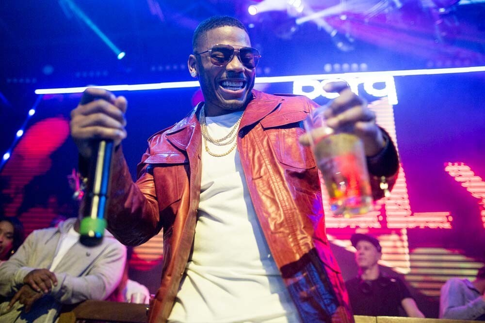 Nelly made it hot in therre at Parq nightclub on Saturday, Feb. 24, 2018.