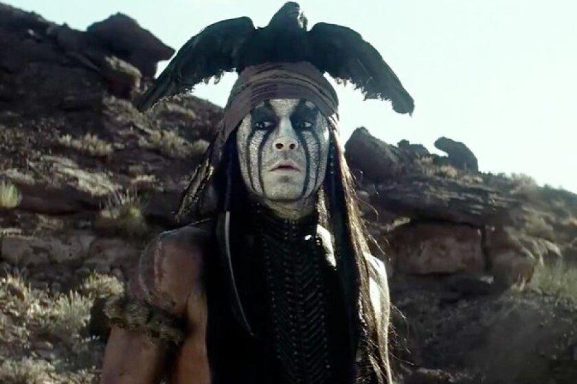 "Johnny Depp in ""The Lone Ranger"""