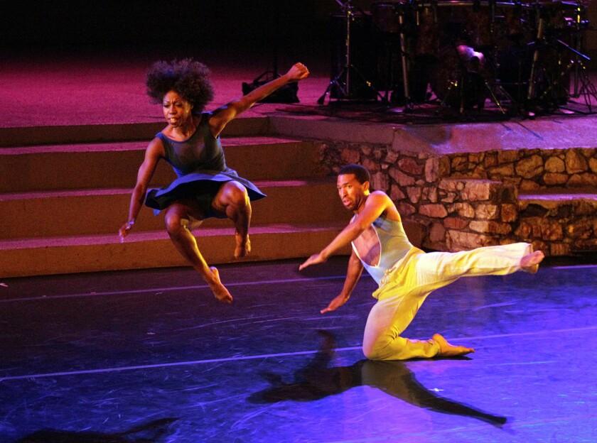 LOS ANGELES, CA-AUGUST 10, 2013: Micah Moch and Khilea Douglass, of the Lula Washington Dance Thea