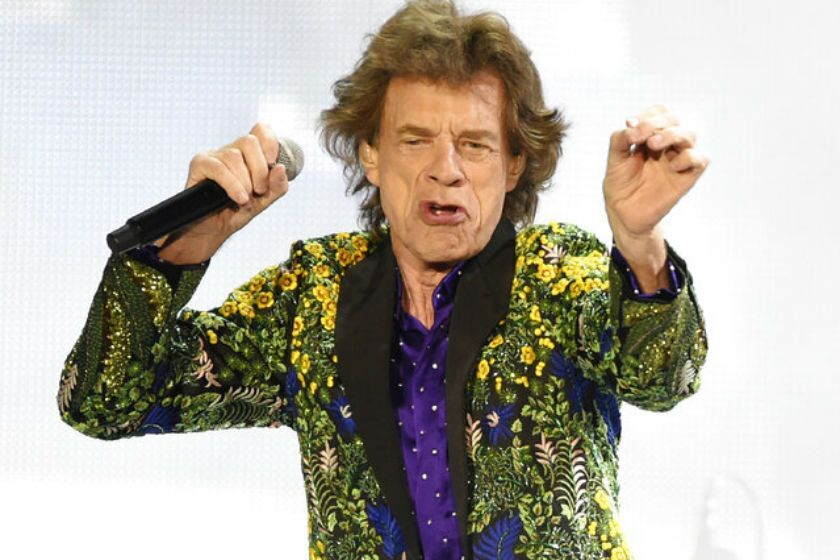 Mick Jagger performs during the Rolling Stones' concert at the Rose Bowl on Thursday.