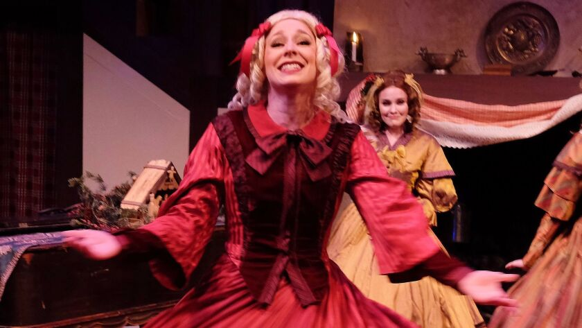 """Siri Hafso in """"Festival of Christmas: The Angel's Arms"""" at Lamb's Players Theatre."""
