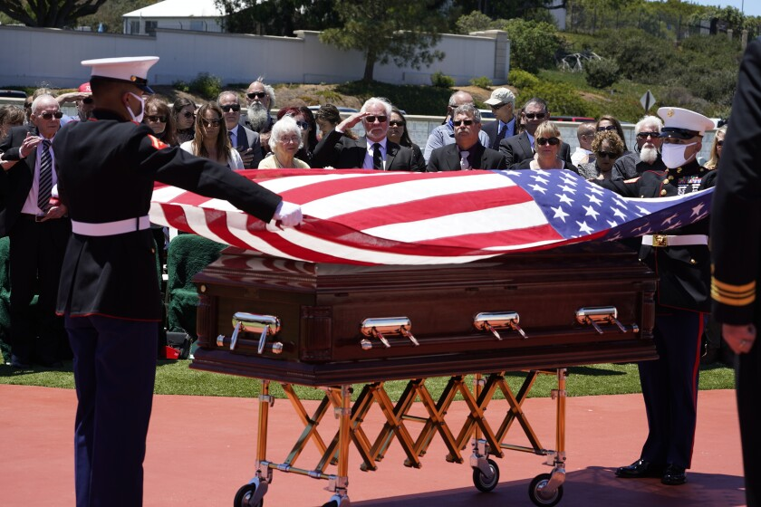 Members of a U.S. Marine honor guard