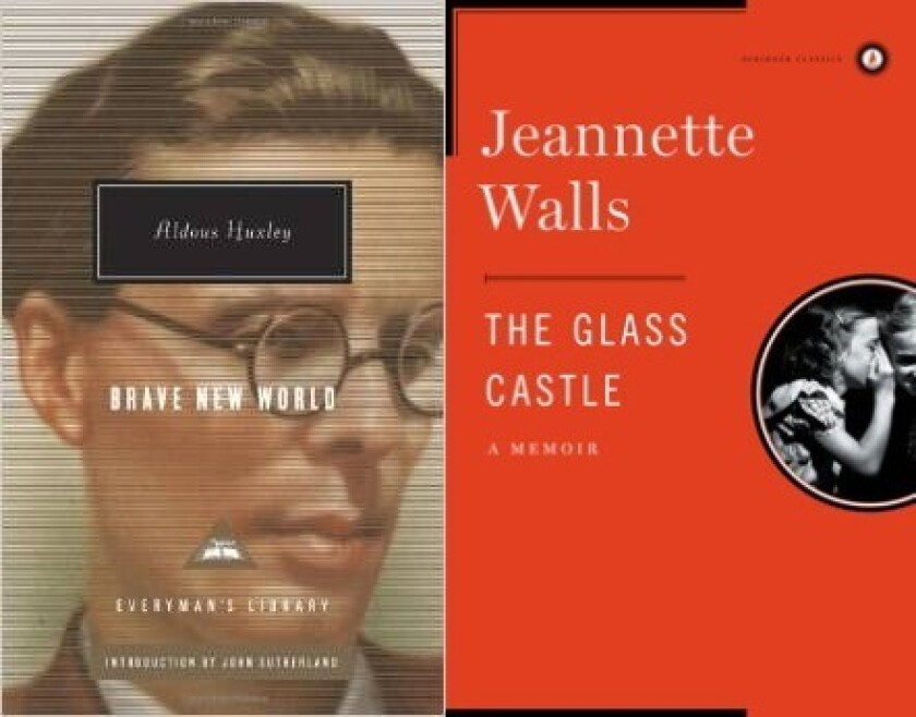 """Brave New World"" and ""The Glass Castle"" are two books on a Texas school district's list requiring parental permission."