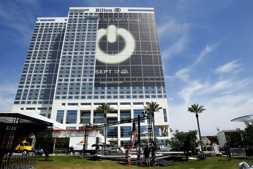 Preparations for Comic-Con were being made at Hilton Bayfront on Tuesday, July 10, 2012. - K.C. Alfred