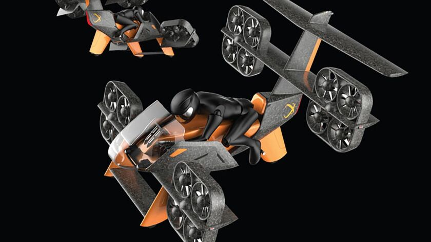 """The ERA Aviabike from Aeroxo LV is described as """"a tilt rotor aerial vehicle type that combines VTOL capabilities of helicopter with range and speed of fixed-wing aircraft."""""""
