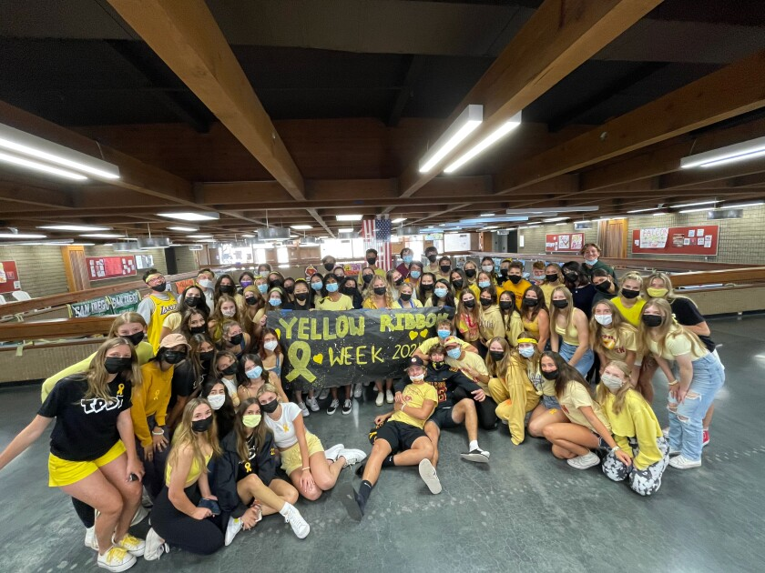 Torrey Pines High's PALs and ASB spearheaded this year's Yellow Ribbon Week.