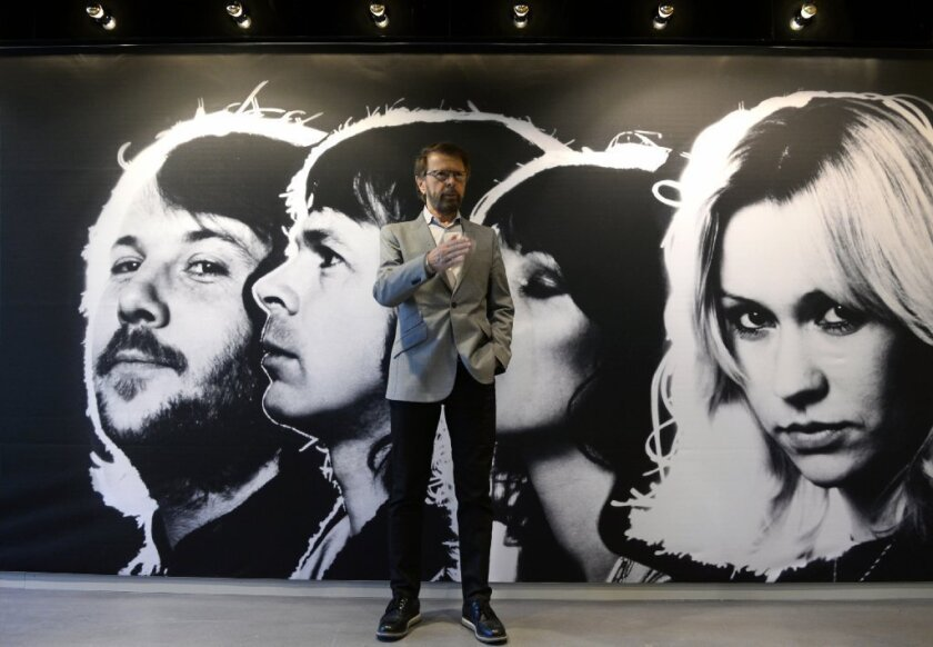 Benny Andersson, member of Swedish disco group ABBA, poses at the world's first permanent ABBA museum.