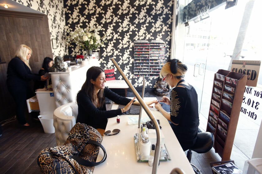 L A S Latest Manicure Pedicure Spots Nail The Spa Boutique Vibe Los Angeles Times