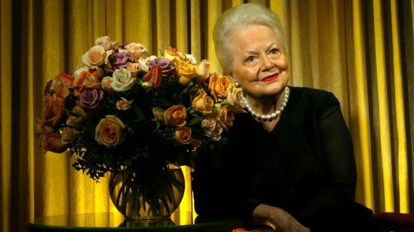 """Olivia de Havilland, shown in 2004, wants the U.S. Supreme Court to hear her case against FX Networks concerning the limited series """"Feud: Bette and Joan."""""""