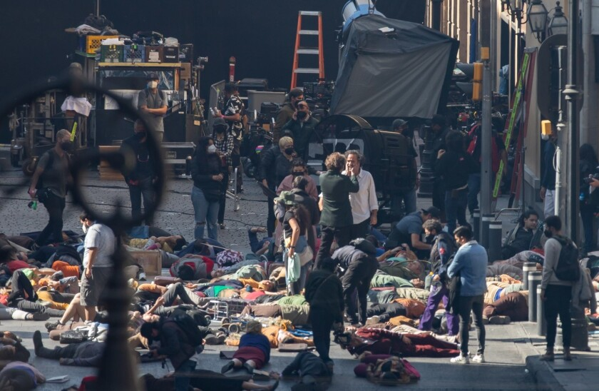 """Esto es lo que está viendo en el rodaje de """"Limbo""""."""