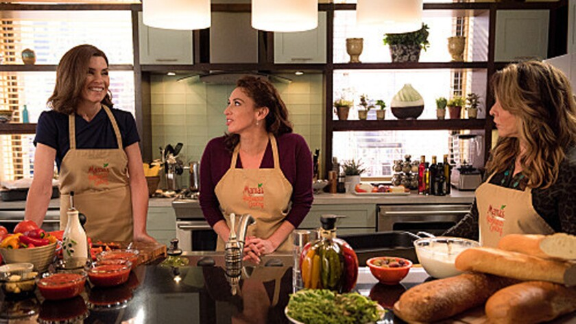 """Alicia and Veronica (Stockard Channing) participate in a mother/daughter cooking show to help Peter's campaign, with disastrous results, on """"The Good Wife."""""""