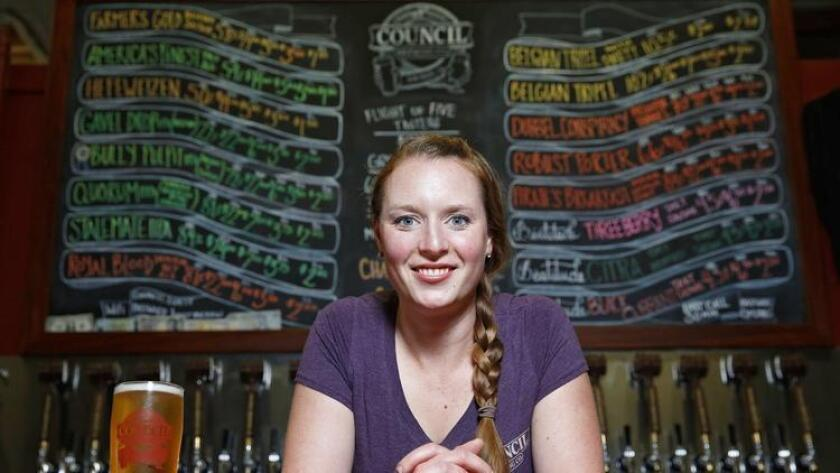 Council Brewing Company Brewmaster Liz Chism (pictured) and her husband, Curtis, are co-owners of this small batch brewery, located in the Kearny Mesa area of San Diego. (Nancee E. Lewis)