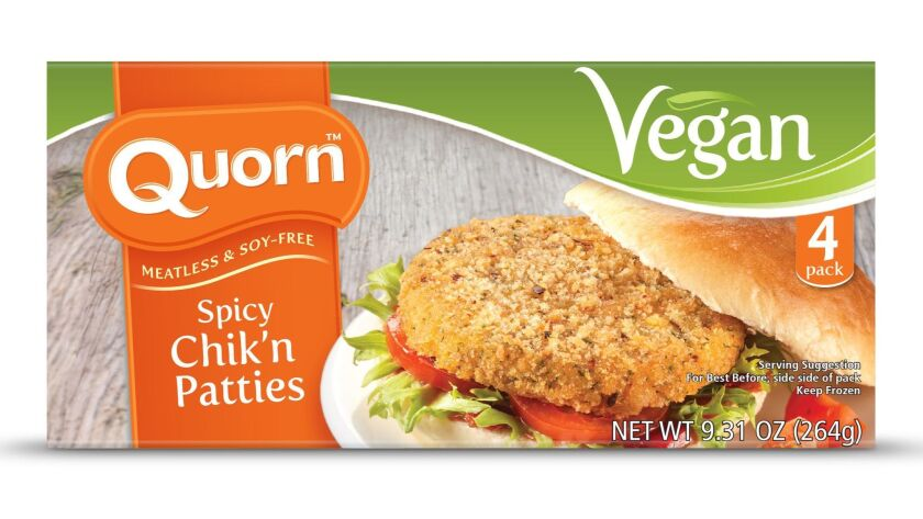 Using Mycoprotein, which has the texture of meat, the new spicy 'chicken' patties from Quorn are