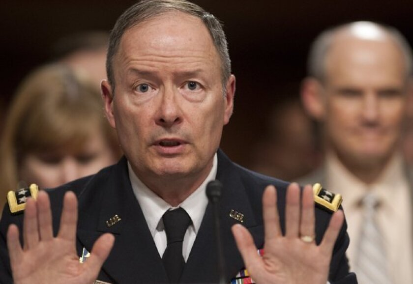 Gen. Keith Alexander, director of the National Security Agency, testifies before the Senate Appropriations Committee in Washington.