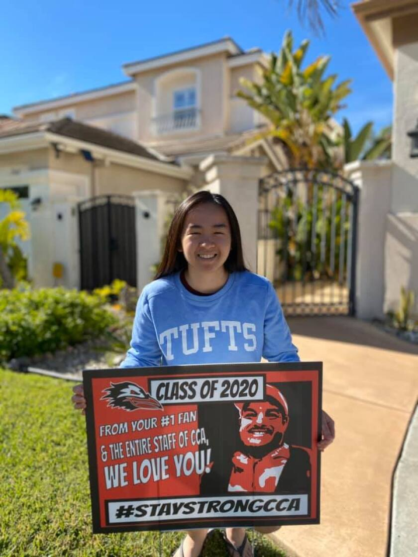CCA senior Kate Chang is heading to Tufts University in Boston to major in biology and play squash.