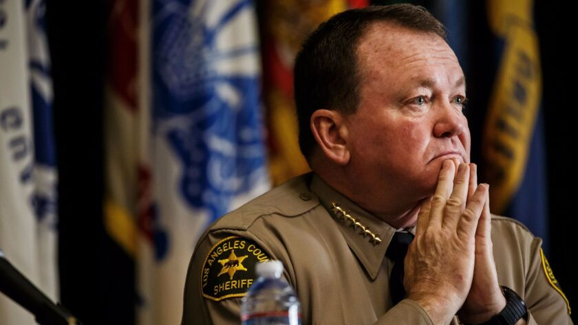 LOS ANGELES, CALIF. -- THURSDAY, JANUARY 26, 2017: L.A. County Sheriff Jim McDonnell pays attention