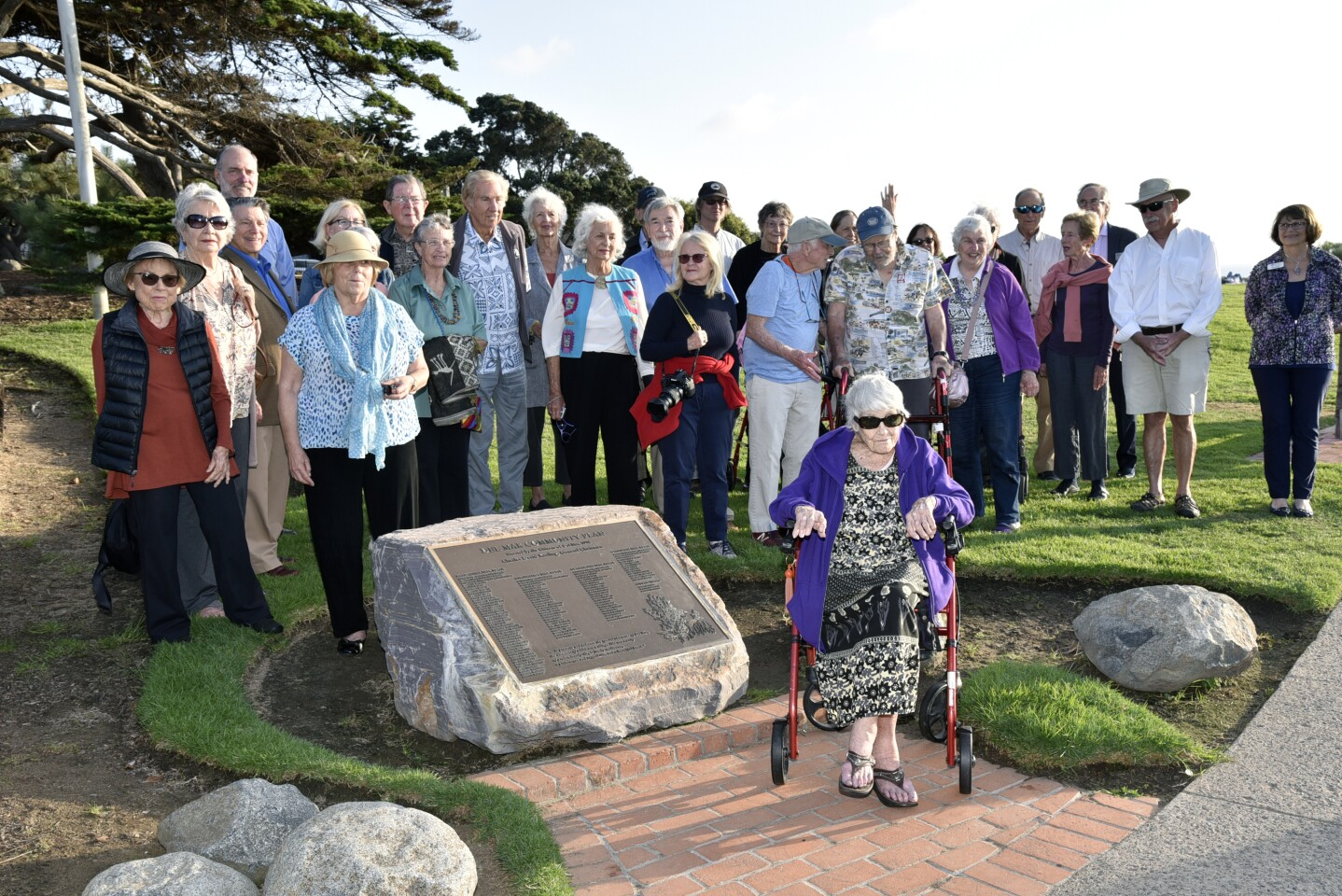 Members of the Del Mar Community Plan Task Force, along with friends and family, united to celebrate 45 years of the Del Mar Community Plan and Del Mar's 60 birthday and honor Charles D. Keeling who was known as the 'President of Del Mar'