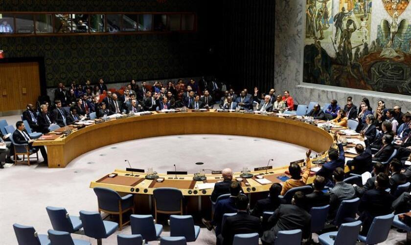 The UN Security Council holds a session on Venezuela on Thursday, Feb. 28. EFE-EPA/Justin Lane