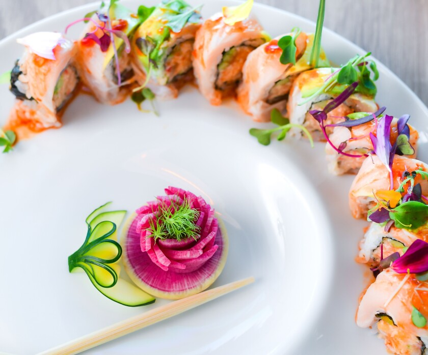 Blue Ocean Sushi at the Cove in La Jolla offers pristine sashimi, rolls and sushi.