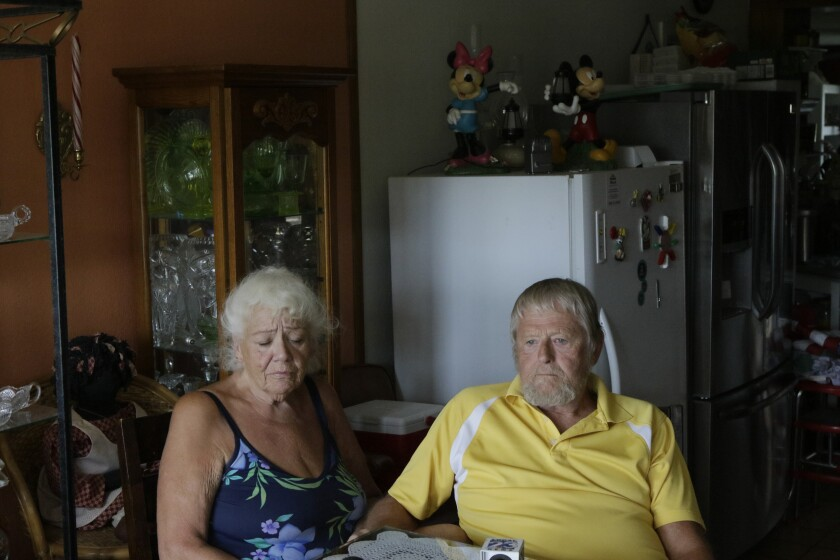 Bonnie and Terry Heaton at their home in Boca Chica Village, Texas.