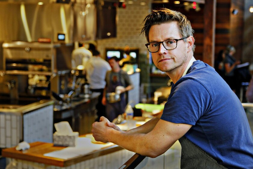 Chef/partner Richard Blais at his new restaurant Juniper & Ivy in San Diego's Little Italy.