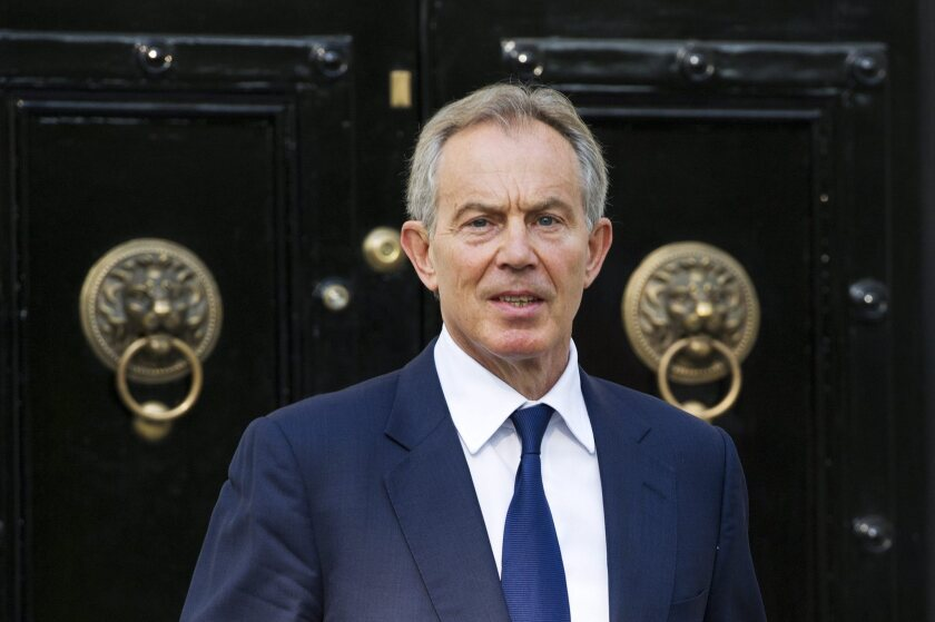 Former British Prime Minister Tony Blair in London in2012, when he was special envoy to the Middle East.