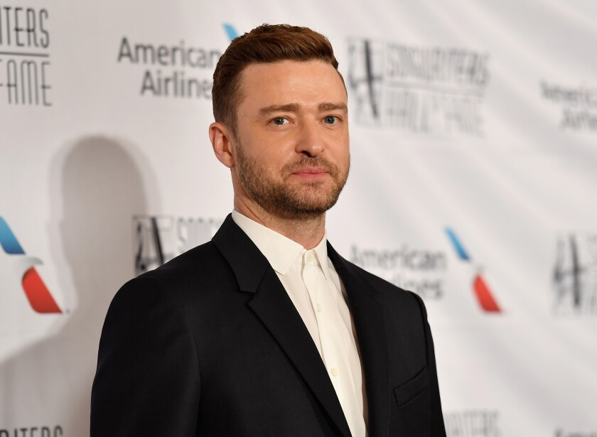 Justin Timberlake at the Songwriters Hall of Fame