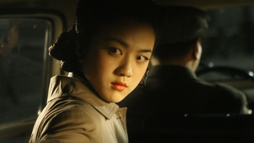 "Tang Wei stars in Ang Lee's 2007 movie ""Lust, Caution."""