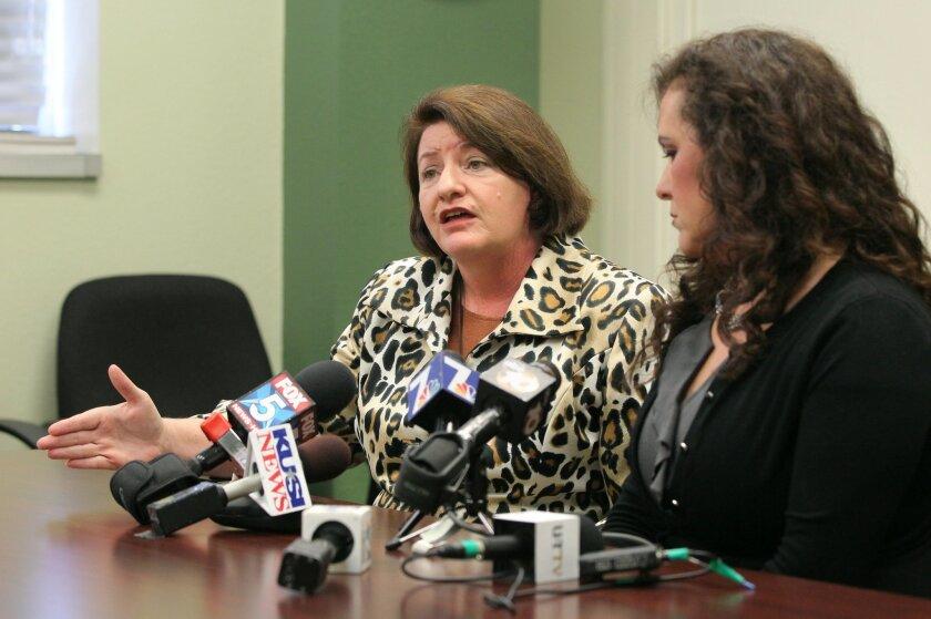 Toni Atkins, left, Lorena Gonzalez, right.