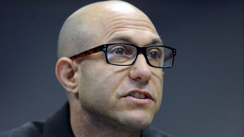 FILE - In this Nov. 14, 2014 file photo, Jeremy Richman, father of Sandy Hook Elementary school shoo