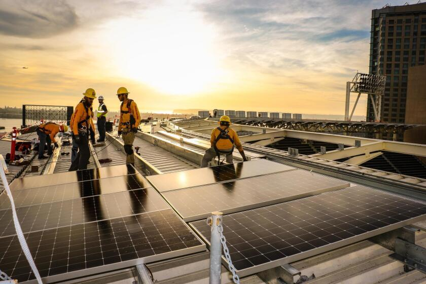 Placing solar panels at Petco Park