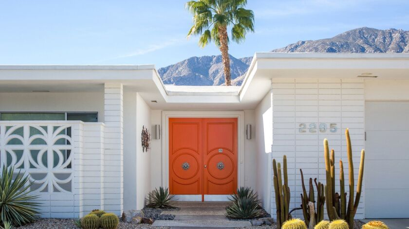 Orange door is part of the 2018 Modernism Week in Palm Springs.