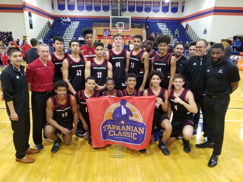 Corona Centennial won the Platinum Division championship of the Tarkanian Classic in Las Vegas.