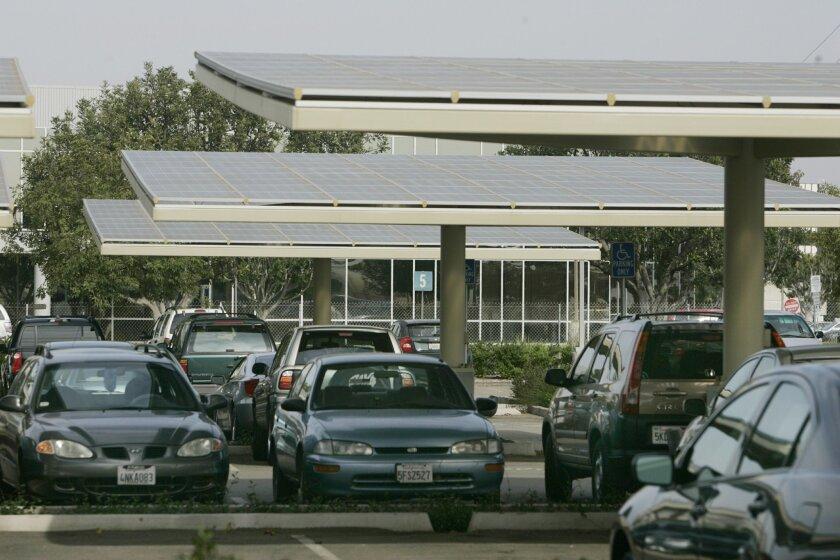 An Envision Solar installation at Kyocera offices at Kearny Mesa.
