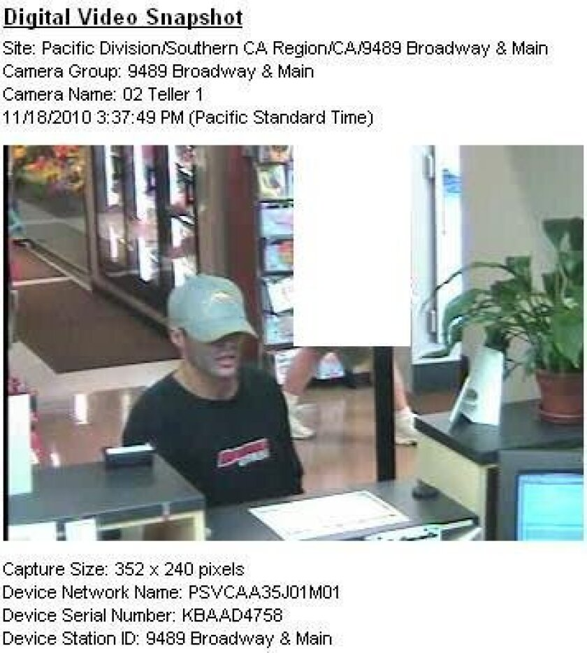 Man jailed, facing 9 bank robbery charges - The San Diego Union-Tribune