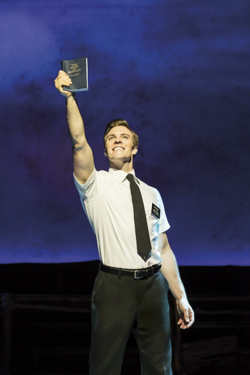 """Billy Harrigan Tighe plays Elder Price in the current touring production of """"The Book of Mormon."""" JOHAN PERSSON"""